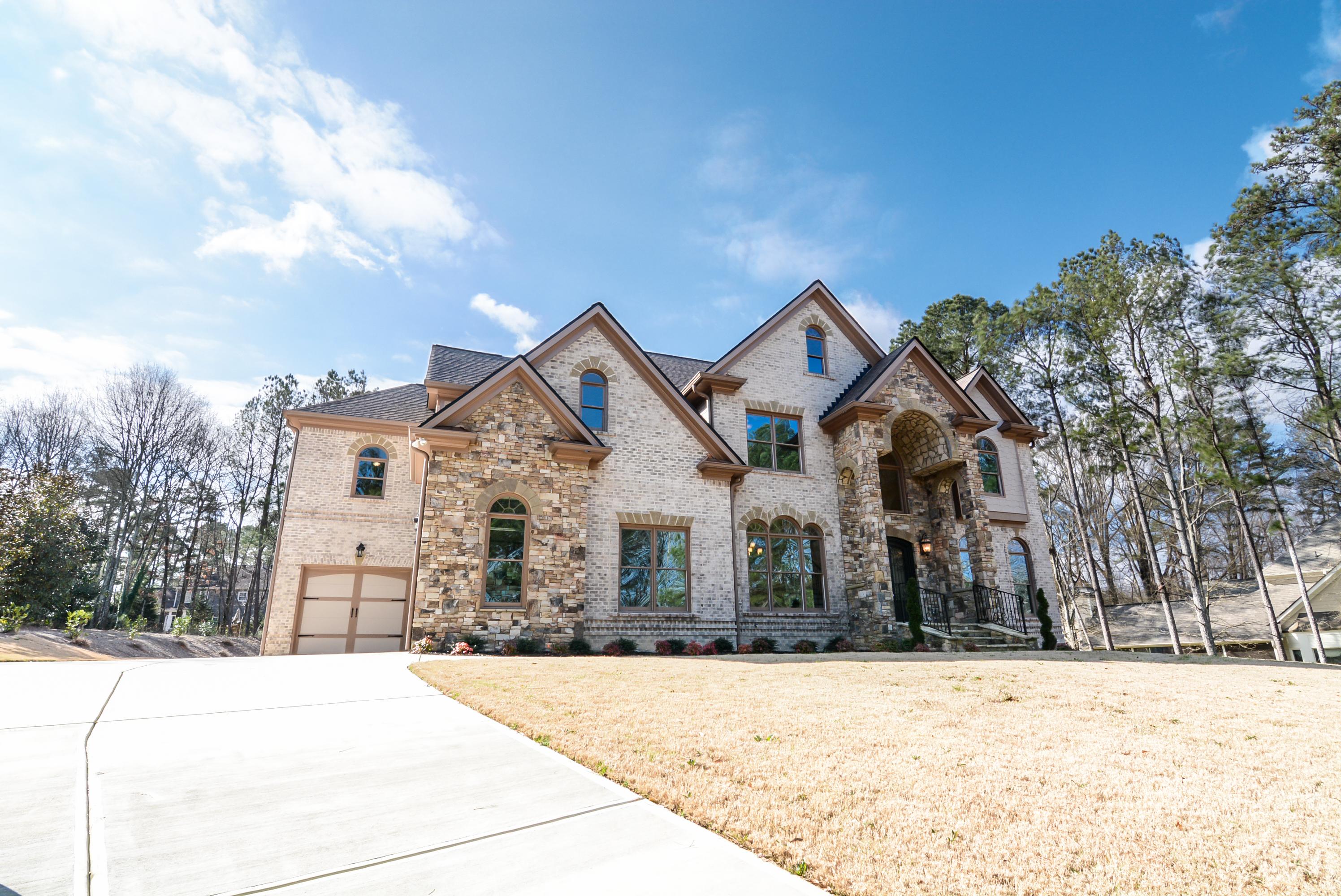 Large Brick & Stone Home