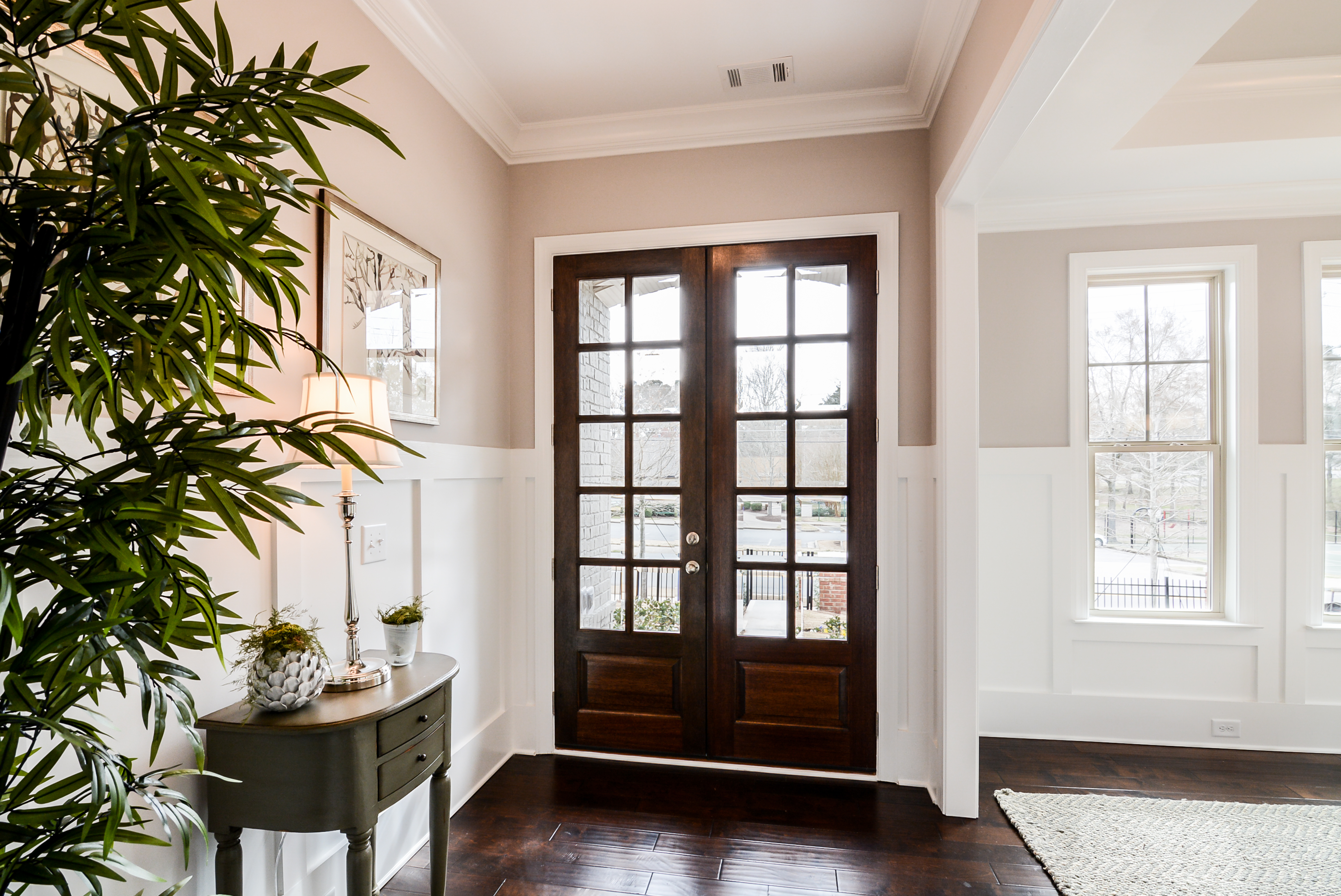 Double Wood Entry Doors