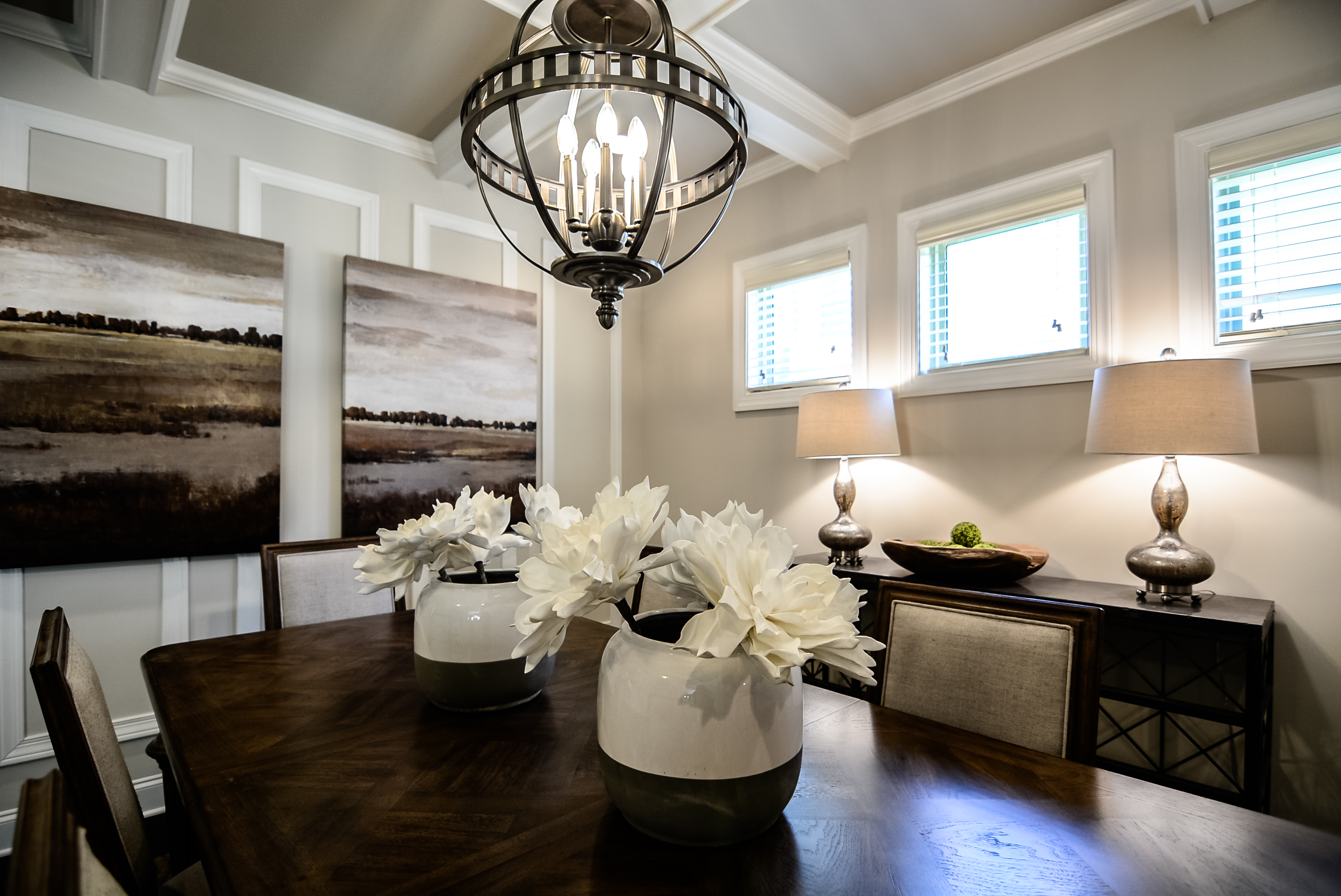 Coffered Dining Room